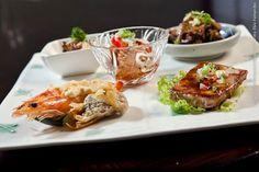 Shintori (jantar)    Degustação Restaurant Week  Pequenas porções individuais de camarão gratinado com creme de Tofu, Shimeji na manteiga, contra-filé Shogayaki, Shumai de carne de porco, atum branco ao molho Tarê Tori Sambaisu (frango).  Acompanha yakimeshi (arroz grelhado com legumes)