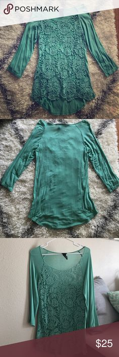 Daytrip by Buckle quarter length shirt Daytrip by Buckle quarter length turquoise/teal shirt: Small Daytrip Tops Blouses