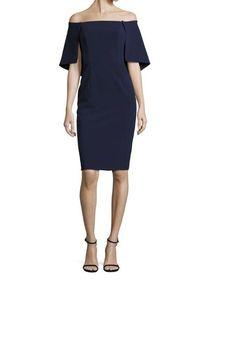 Eloise Cape Overlay Sheath Dress by Black Halo Color - Navy , Size - 12  | eBay