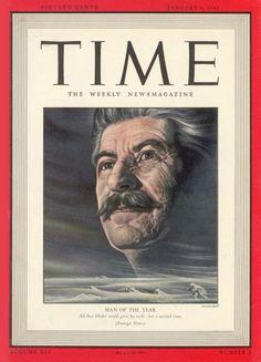 Couverture du Time de janvier 1943, célébrant Staline, homme de l'année 1942