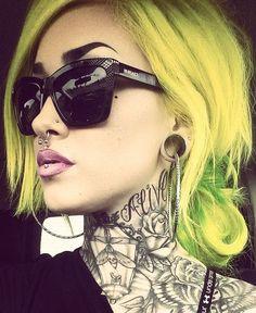 Neon Yellow/Green Hair