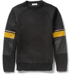 Tim Coppens Leather-Trimmed Cotton-Blend Sweatshirt | MR PORTER