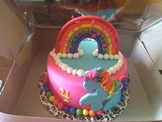 My little pony cake My Little Pony birthday cake girl rainbow pink blue yellow party birthday kids