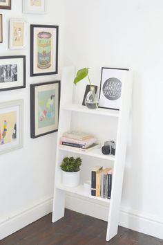 Decorate your dorm room with this DIY Ladder Shelf tutorial.