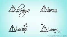 Harry Potter Always Tattoos