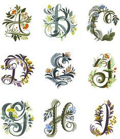 floral alphabet | Tumblr