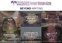 The Ultimate Fantasy Writer's Guide will teach you to write a great book that holds up in today's market. It will also help you build your career! One Course. #fantasy #amwritingfantasy #amwriting #writingtips #writingcraft #writingcourse