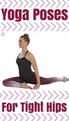 Yoga poses to relieve tight hips! These help so much in your everyday life if you suffer from hip pain.