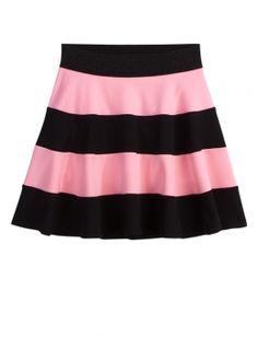 Rugby Stripe Skater Skirt