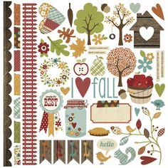 Harvest Lane Fundamental Cardstock Sticker
