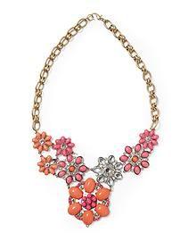 Sabine Cabachon Floral Bib Necklace | Piperlime