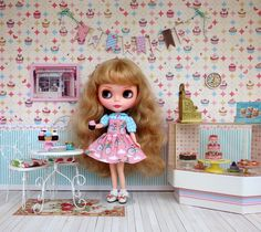 Cupcake doll scene photograph by Debby Emerson
