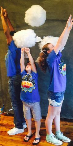 Your kids will feel like real heroes using ideas to create cloud shapes! cokesburyvbs.com