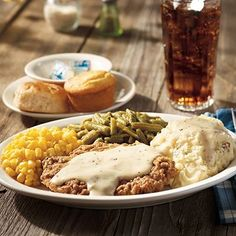 My favorite Cracker Barrel meal, except with iced tea!!