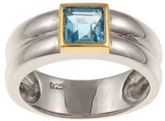 #Overstock                #ring                     #Kabella #Two-tone #Silver #Square-cut #Blue #Topaz #Ring #Overstock.com      Kabella Two-tone Silver Square-cut Blue Topaz Ring | Overstock.com                                      http://www.seapai.com/product.aspx?PID=1769511