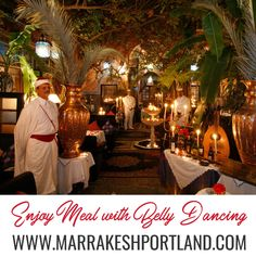 Come to Marrakesh Restaurant where you can enjoy a very entertaining dinner and a show with our expert belly dancers under a live music. For further details, visit: http://marrakeshportland.com/ala-carte/ #BellyDancing #BellyDance #DinnerSpecials #Yummy #WellBalanced #Soup #Healthy #TreatYourTaste #AlaCarte #MoroccanRestaurant #MoroccanCuisine #MoroccanCulture #Delicious #MorrocanRestaurant