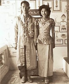 Royal Wedding Ceremony of His Majesty King Bhumibol Adulyadej and Queen Sirikit on April 28, 2493,