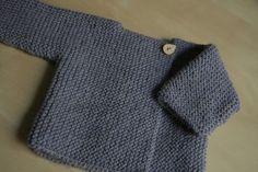New Knitting Vest Kids Garter Stitch 67 Ideas Baby Knitting Patterns, Baby Cardigan Knitting Pattern, Knitted Baby Cardigan, Knitting For Kids, Baby Patterns, Hand Knitting, Crochet Baby, Knit Crochet, Baby Kimono