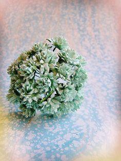 Aqua Dahlias Vintage style Millinery Flower by HaberDashingShoppe
