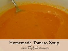 Homemade Tomato Soup - Whipping up a batch of this soup is almost as simple as opening a can!