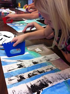 Art Room 104: 3rd Grade Fall Birch Trees. Another great lesson on making birch trees.