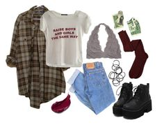 """Lazy but comfortable"" by katelynxvx ❤ liked on Polyvore featuring Levi's, Monki, Aiayu, red, tumblr, bluejeans, flannel and raiseboysandgirlstgesameway"