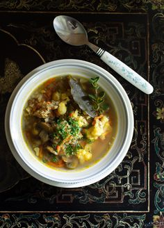 Russian Monday: Buckwheat Soup with Cauliflower & Turmeric – Florida Trip (Part One)
