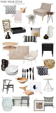 Emily Henderson Find Your Style Quiz Vignettes Minimal Sleek White Modern Roundup Scandinavian DesignContent MarketingMoodboardsA