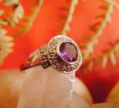 Vintage Amethyst and Diamond Engagement  by natureselementsjewel, $425.00