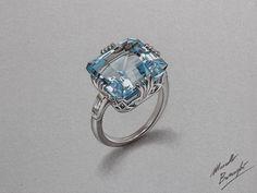 Aquamarine ring by marcellobarenghi.deviantart.com on @deviantART