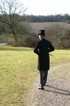 Vintage Edwardian frock coat. Silver knob handled walking cane from1929. Pic from The Danish Chap's Attire Chronicles