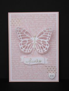 Eve Marie Makes: Stampin' Up! Butterflies Thinlits and Subtles DSP