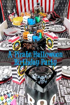 A Pirate Halloween Birthday Party for Your Child | A Mother Thing | http://www.amotherthing.com