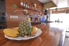 Fresh fruit smoothies at Lanas Lounge serving breakfast, lunch, dinner,