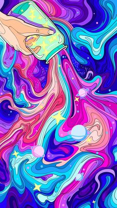 Arte Hippy, Psychadelic Art, Trippy Painting, Funky Art, Hippie Art, Cute Wallpaper Backgrounds, Visionary Art, Aesthetic Art, Painting Inspiration