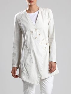 LYOCELL-LYCRA JAQUET WITH RESIN COATING - JACKETS, JUMPSUITS, DRESSES, TROUSERS…