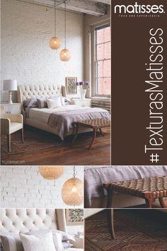 Recuerda que los detalles visuales pueden estar presentes en las texturas que uses para decorar tu hogar.