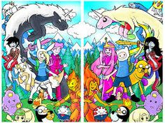 adventure time swapped characters and the original ones!!!