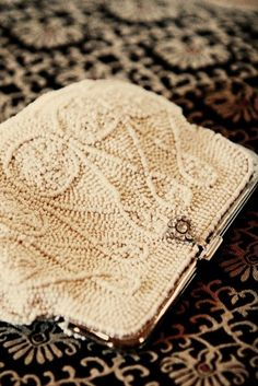 vintage-wedding-purse :) Just found a beautiful, beaded one similar to this! Mine is silver though! :D