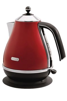 Retro Electric Tea Kettle | SAVEUR  Direct link to buy kettle: http://www.delonghi.com/en-us/products/kitchen/kitchen-appliances/kettles/icona-kbo-1401r-0177600146