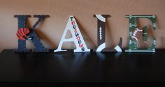 Football themed letters by LoveBbyCarrie on Etsy
