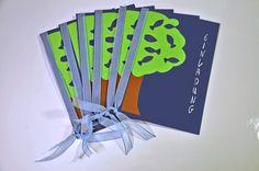 Dekoration - Konfirmation Einladung FISCHBaum - ein Designerstück von Lingschmetter bei DaWanda
