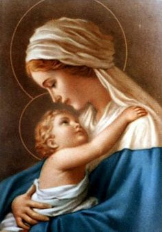 Mother Mary and Baby Jesus Religious Pictures, Jesus Pictures, Religious Icons, Religious Art, Blessed Mother Mary, Blessed Virgin Mary, Catholic Prayers, Catholic Art, Catholic Blogs