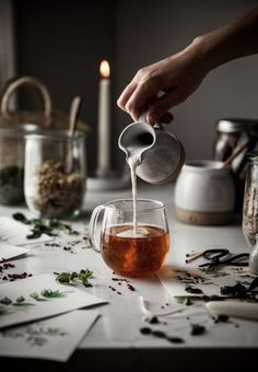 Rose Tea + Honey & Milk Cinnamon Rose Tea with Honey & Milk .Cinnamon Rose Tea with Honey & Milk . Coffee Photography, Food Photography, Food Styling, Rosen Tee, Cocktails, Tea Drinks, Beverages, Mini Desserts, Easy Desserts