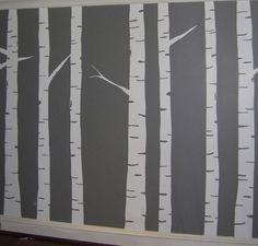 murales de troncos pintados