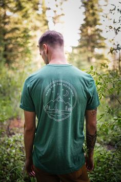 Made for the Mountains tee, perfect for camping, hiking, lounging, or whatever the activity may be. complete with a little tribute to the mountains. Heyday Bozeman