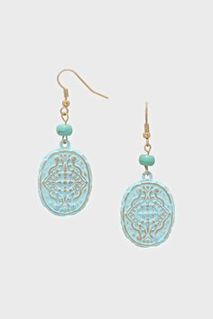 Neve Earrings in Pale Blue Patina