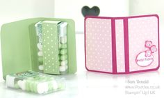 Stampin' Up! UK Independent Demonstrator Pootles. Tic Tac Book Tutorial using Stampin' Up Supplies Back