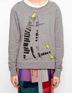 Paul by Paul smith quirky cat sweatshirt