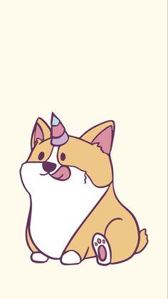 Corgi Wallpaper Iphone, Cute Dog Wallpaper, Watch Wallpaper, Unique Wallpaper, Corgi Cartoon, Cute Corgi, Indie Kids, Cute Cartoon Wallpapers, Dog Love